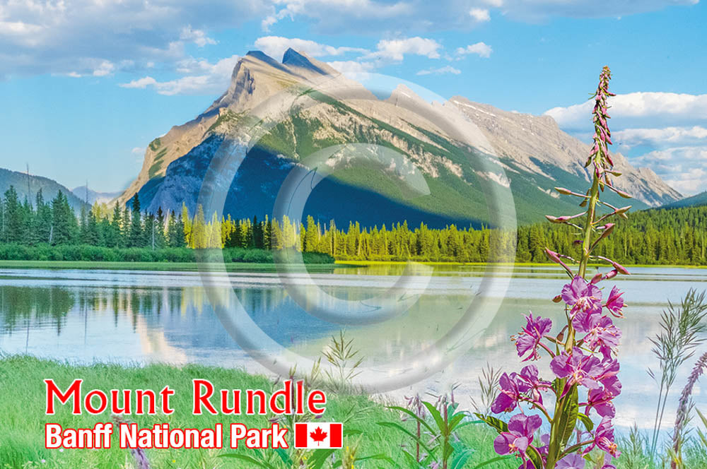 Mt. Rundle Metal Magnet
