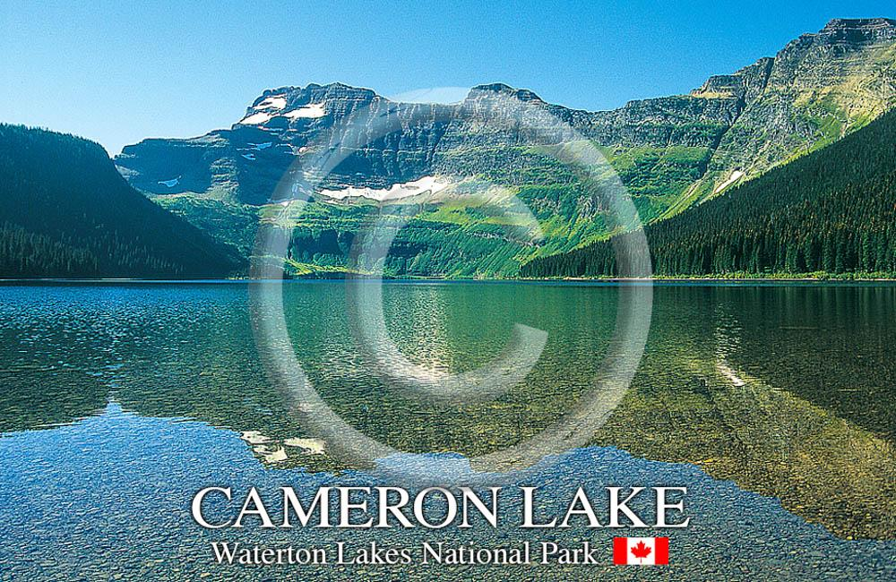 Cameron Lake Metal Magnet