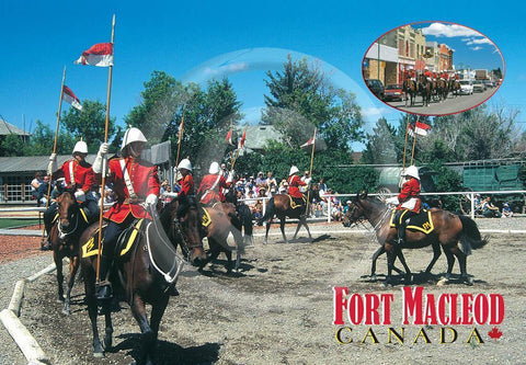 Fort Macleod Riders/ Main Street 4x6 Card