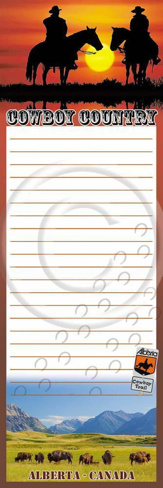 Cowboy Country Notepad