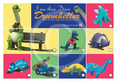 I saw Dinos Drumheller 5x7 Card