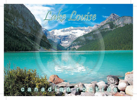 Lake Louise Rocks 5x7 Card