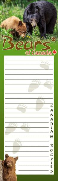 Bears of Canada Notepad