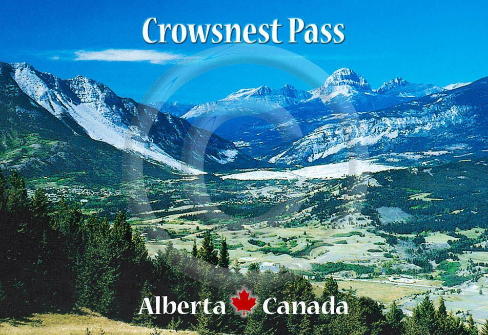 Crowsnest Pass Metal Magnet