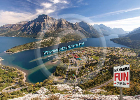 Waterton Max Fun 5x7 Card