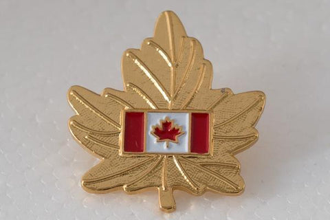 Maple Leaf Flag Lapel Pin