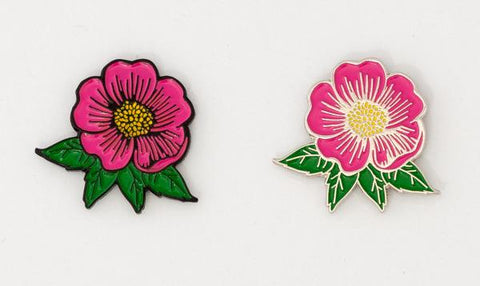 Alberta Wild Rose Lapel Pin