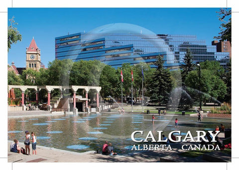 Calgary Olympic Plaza 4x6 Card