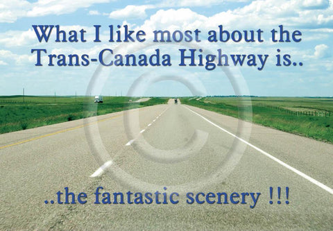 Trans Canada Highway 4x6 Card