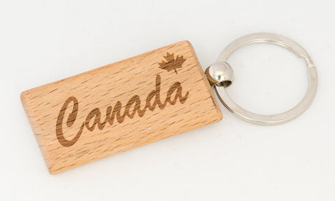 Canada Wood Key Tag rect