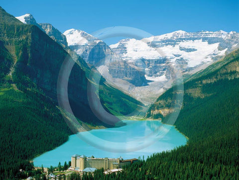Lake Louise Aerial 4x6 Card