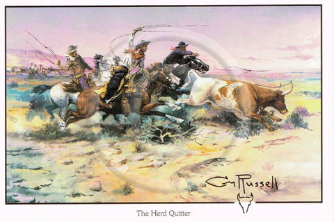 C. Russell-Herd Quitter 4x6 Card