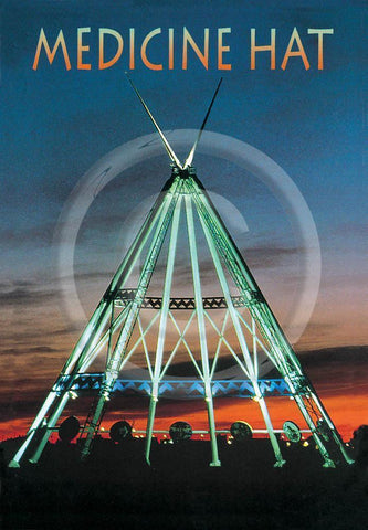 Medicine Hat Tipi Night (v) 4x6 Card