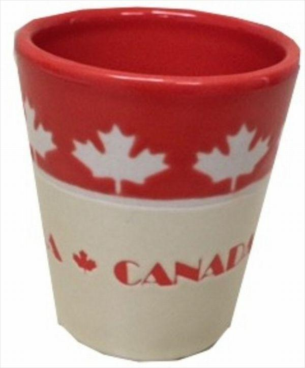 Canada Leaves Ceramic Shot Glass