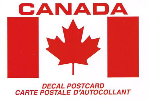 Canada Postcard Decal 4x6