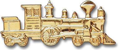 Gold Steam Engine Lapel Pin