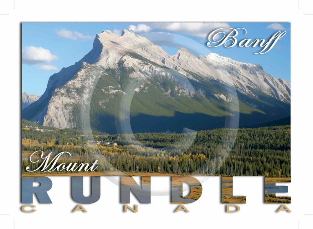 Banff Mt Rundle 5x7 Card
