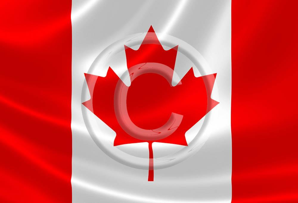 Canada Flag flying Metal Magnet