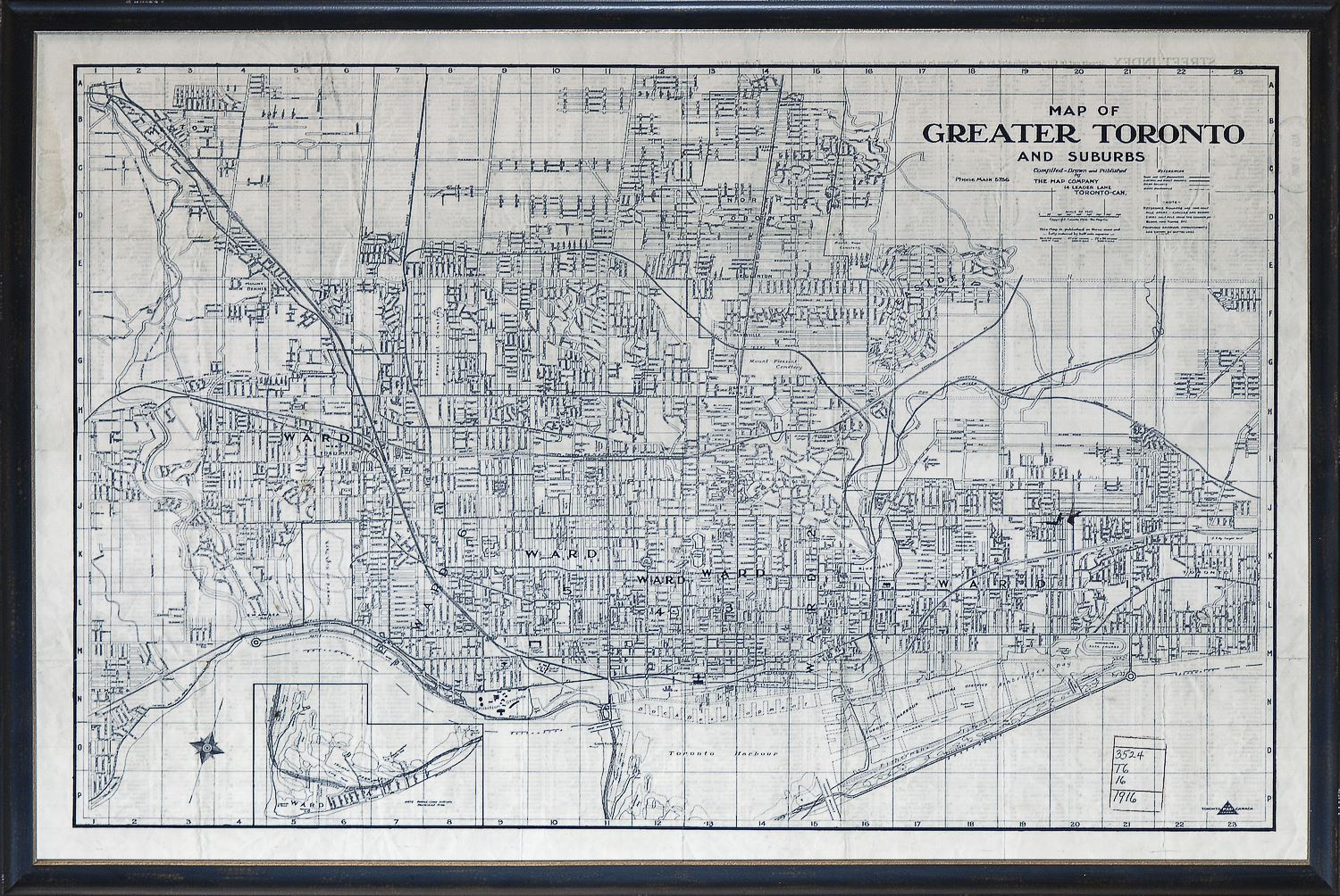 Map of Greater Toronto circa 1916