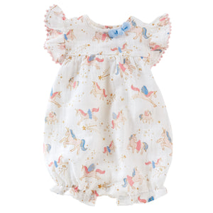 Muslin Cotton Unicorn Romper