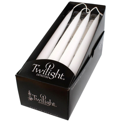 "Candles -  Tapers 12"" White"
