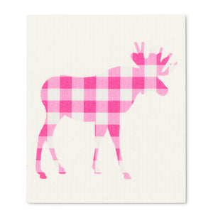 Gingham Moose Swedish Dish Cloth II