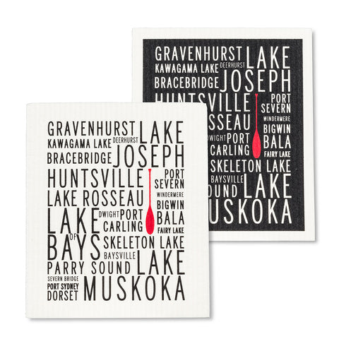 Muskoka Lakes Swedish Dishcloths Set of 2