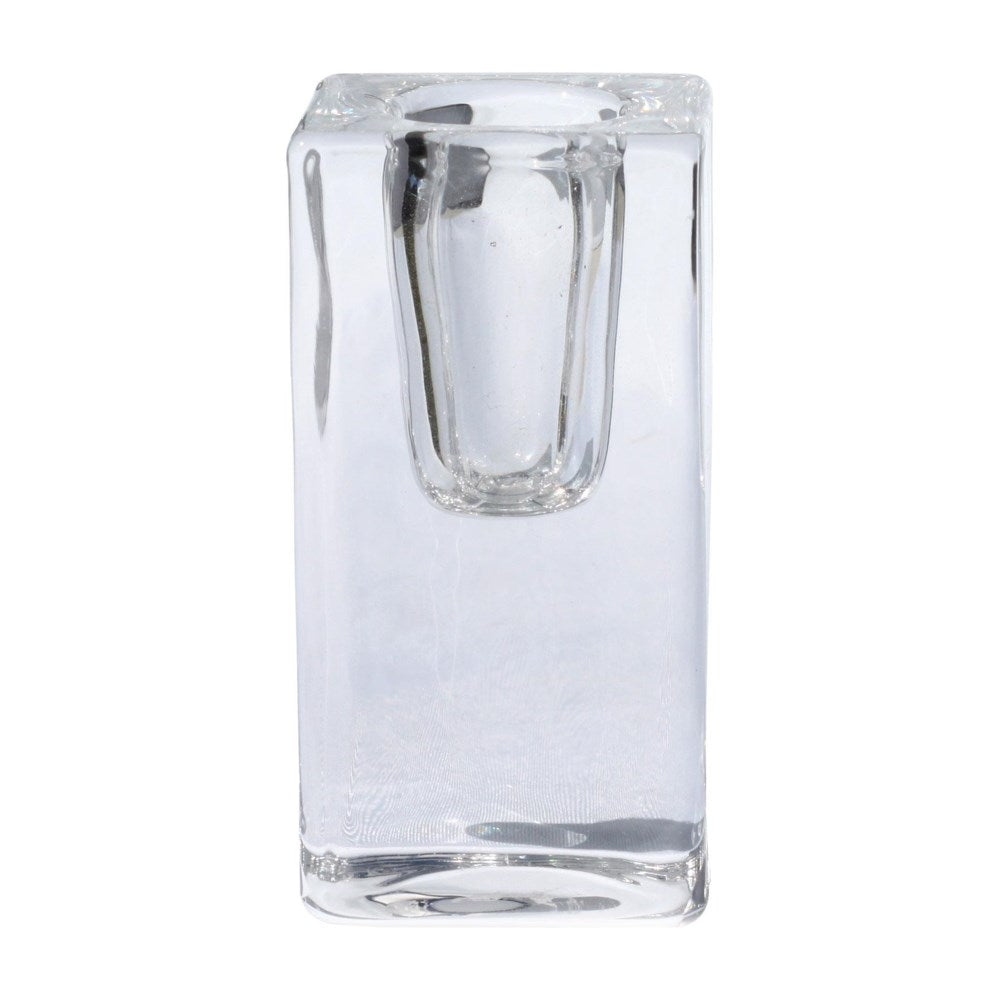Candle Holder Glass Block Large