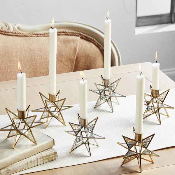 Star Candle Holder Silver