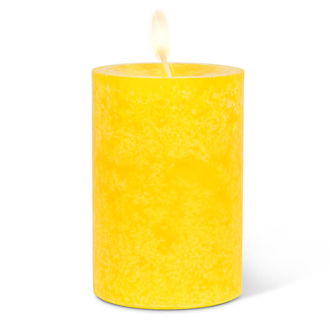 Small Pillar Candle - Yellow