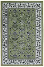 Faux Silk Green Rug