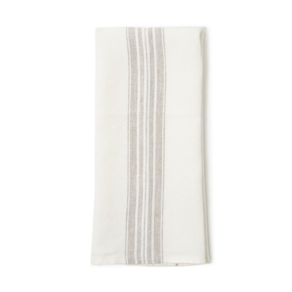 Hand/Kitchen Towel with Natural Stripes