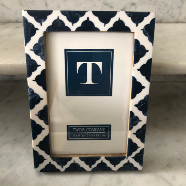 Blue & White Photo Frame
