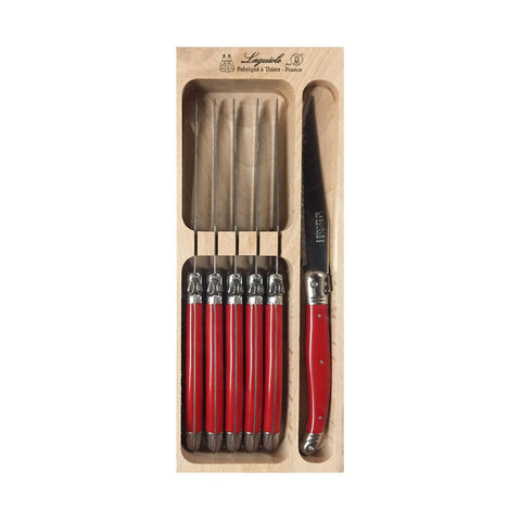 Laguiole French Steak Knives - Red