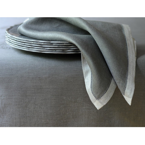 Linen Tablecloth in Charcoal