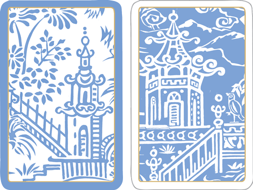 Pagoda Toile Playing Cards