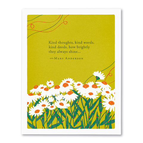 Kind Thoughts, Kind Words Greeting Card