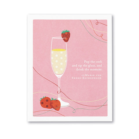 Pop The Cork Congratulations Greeting Card