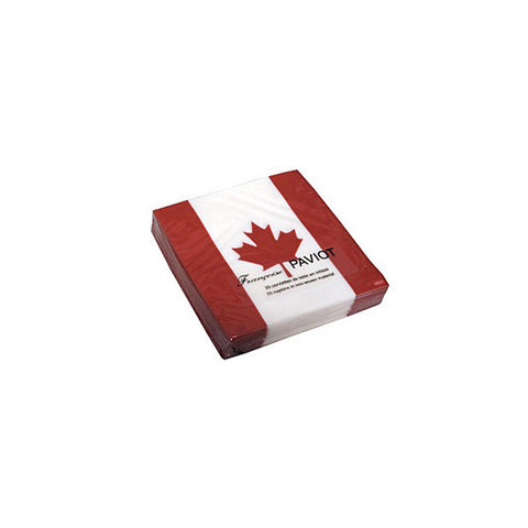 Paviot Canadian Flag Cocktail Napkins