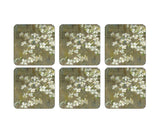Pimpernel Dogwood in Spring Set of 6 Coasters