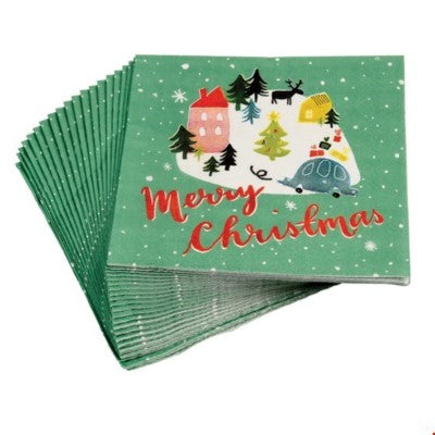 Merry Christmas Cocktail Napkins
