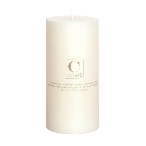 Warm White Pillar Candle 3x6