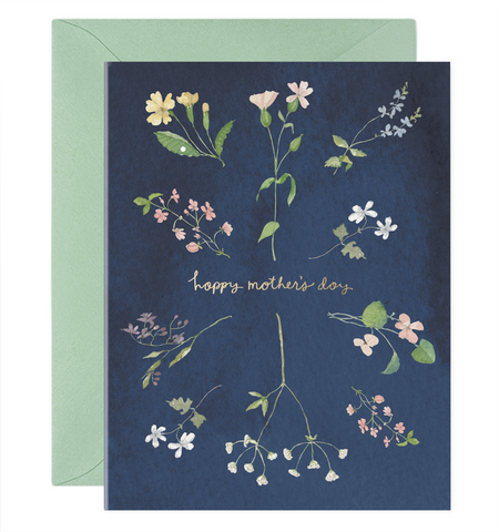 Happy Mother's Day Card Wildflowers