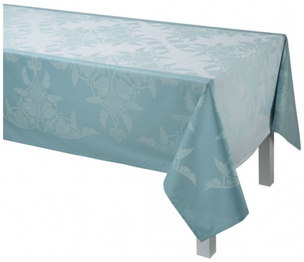 Jacquard Français Coated Tablecloth - Syracuse Aqua