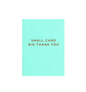 Small Card Big Thank You Greeting Card