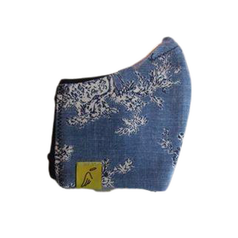 Ladies Blue Toile Face Mask
