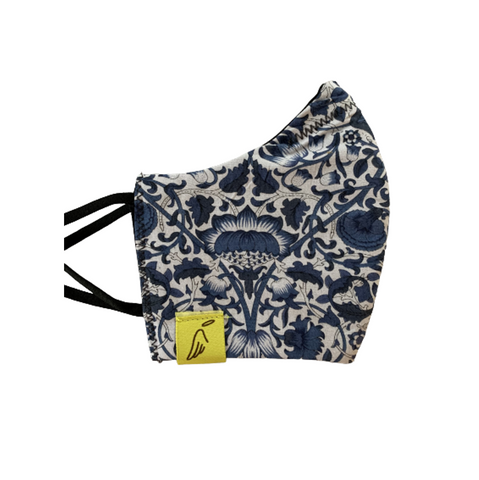 Ladies Blue Liberty Print Face mask
