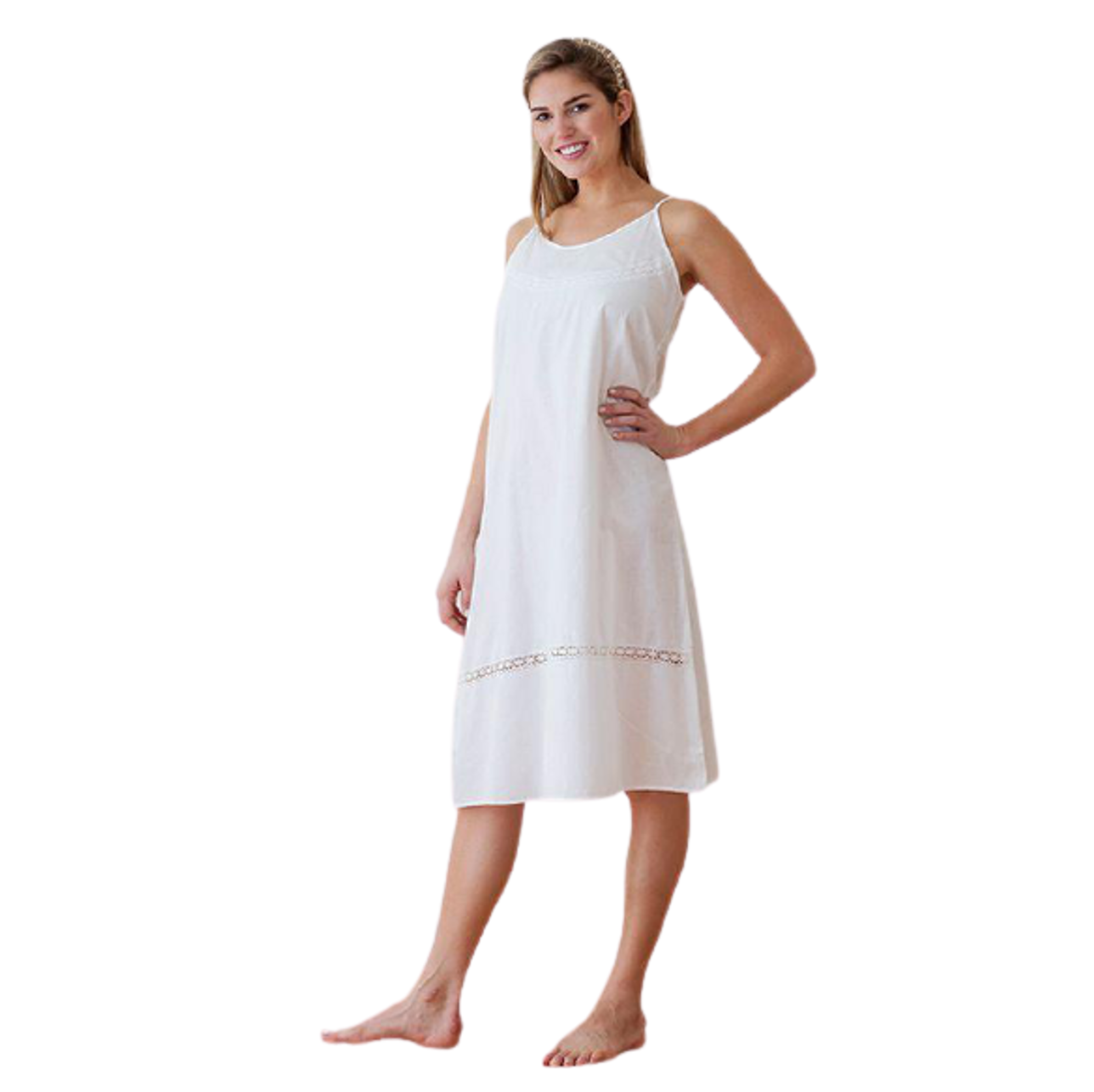 White Cotton Nightgown