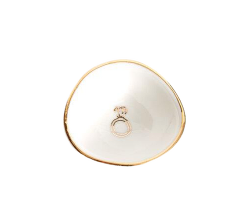 Gold & White Ring Dish