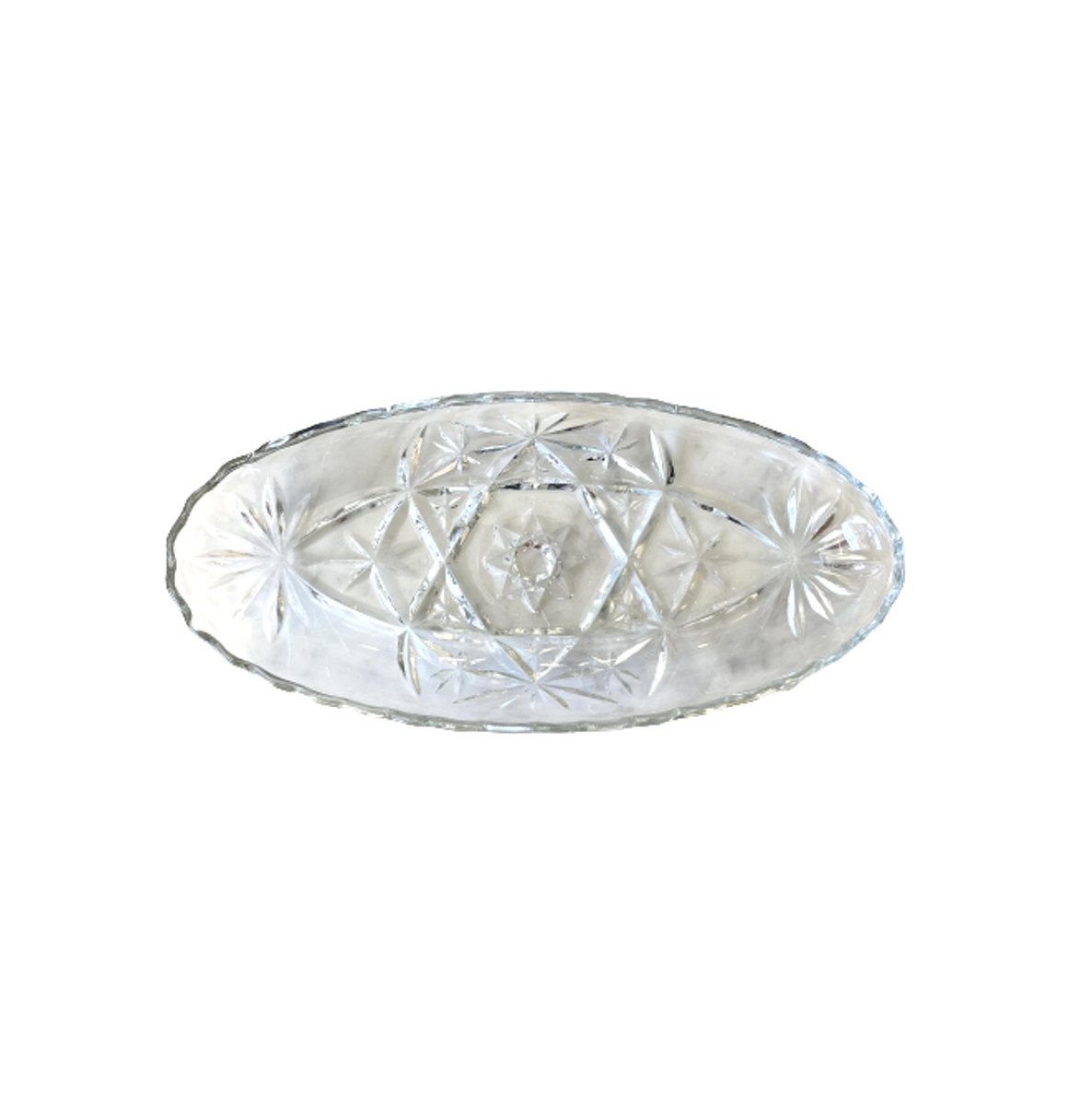 Vintage Oval Glass Dish